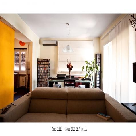 Casa Gaffi – Roma 2008. Soggiorno